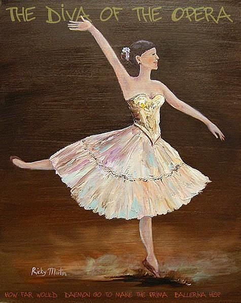 Art: The Diva of the Opera - sold by Artist Ulrike 'Ricky' Martin
