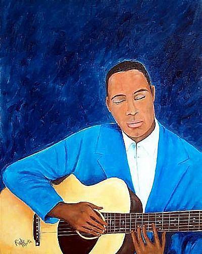 Art: New Orleans Jazz Man by Artist Ulrike 'Ricky' Martin