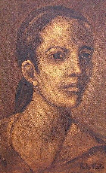 Art: Portrait of a Lady by Artist Ulrike 'Ricky' Martin