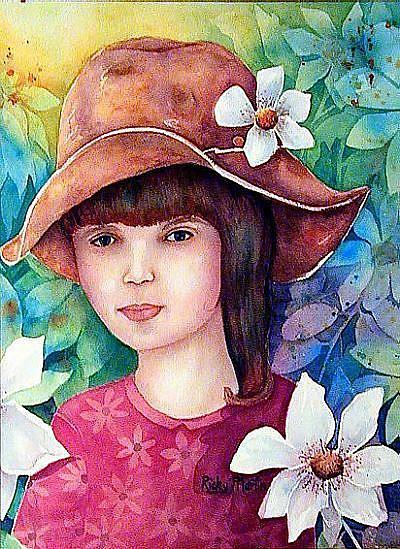 Art: Flower Child - sold by Artist Ulrike 'Ricky' Martin