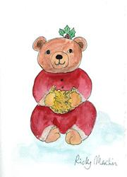 Art: Christmas Bear by Artist Ulrike 'Ricky' Martin