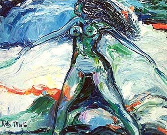 Art: wind maiden (available in my ebay store) by Artist Ulrike 'Ricky' Martin