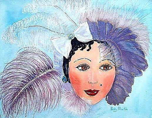 Art: Le Masque de Mardi Gras by Artist Ulrike 'Ricky' Martin