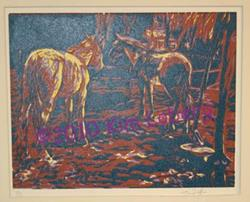 Art: Horses by Artist Kim Loberg