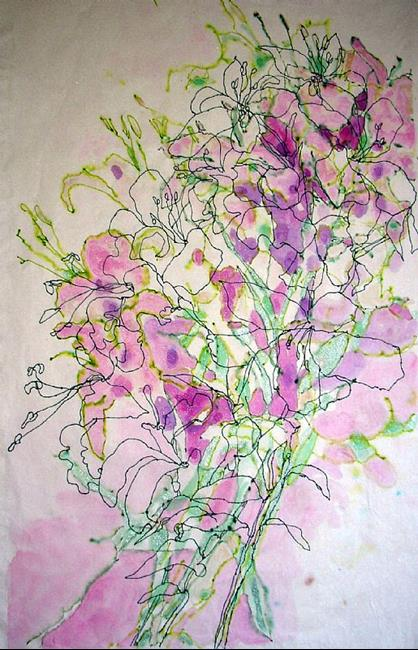 Art: Jane's Altar Lilies by Artist Mary Anne Carley