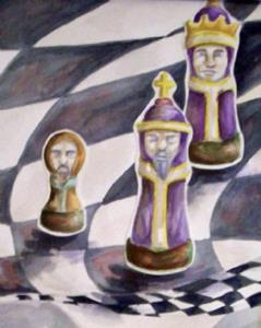 Detail Image for art Electrodynamic Chess Match