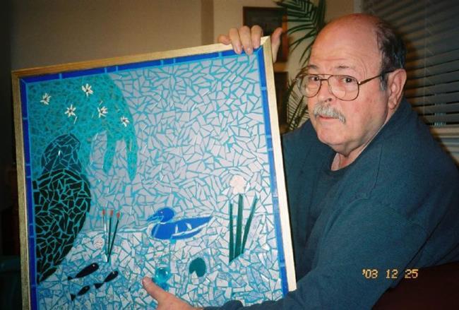 Art: Daddy's Blue Duck by Artist Dorothy Edwards