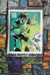Detail Image for art The Stamp Collection:  Green Lantern (sold)