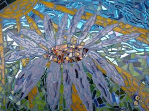 Detail Image for art Purple Cone Flower & Butterfly (sold)