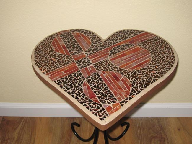 Art: Deco Heart Table by Artist Dorothy Edwards