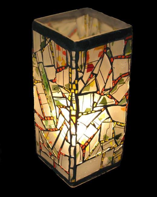 Art: Confetti Lamp by Artist Dorothy Edwards