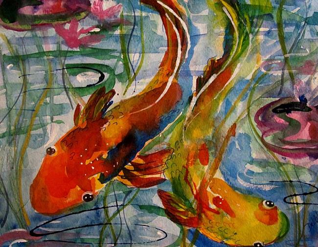Art: Koi Fish by Artist Delilah Smith