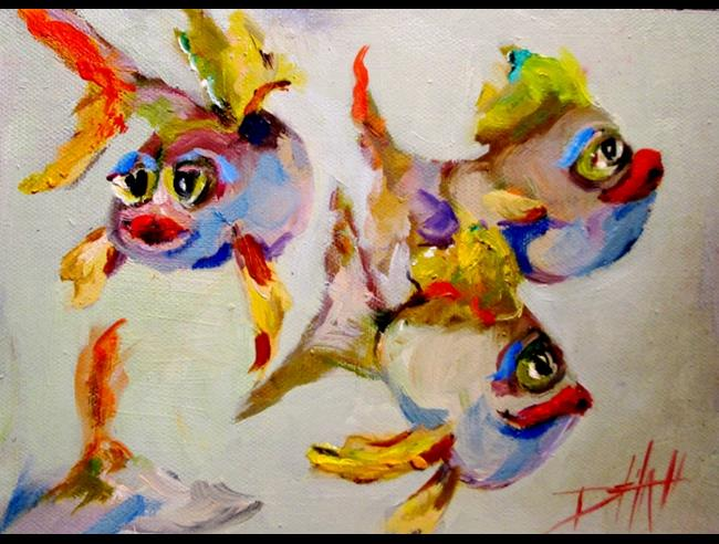Art: Fat Fish by Artist Delilah Smith