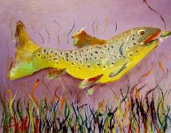 Art: Irish Brown Trout by Artist Delilah Smith