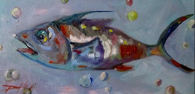 Art: Wild Fish No. 3 by Artist Delilah Smith