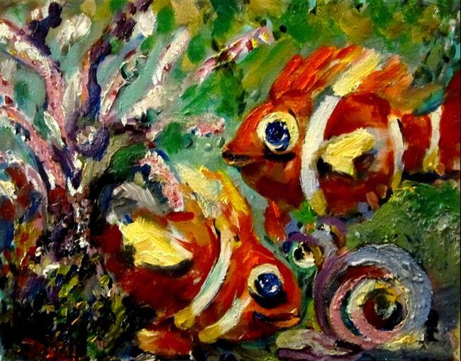 Art: Clown Fish-sold by Artist Delilah Smith