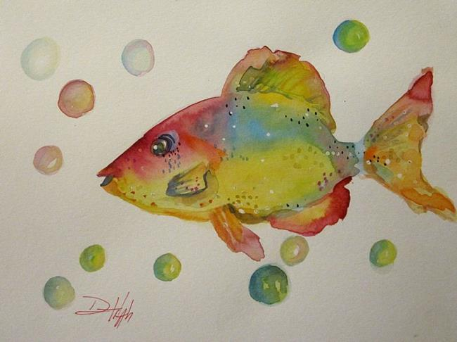 Art: Fish and Bubbles by Artist Delilah Smith