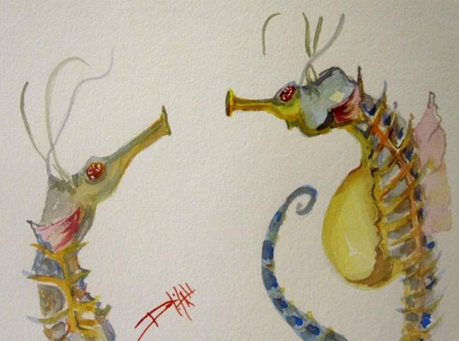 Art: Tawdry Seahorses by Artist Delilah Smith