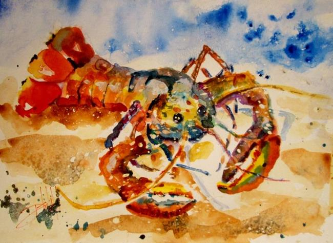 Art: Lobster by Artist Delilah Smith