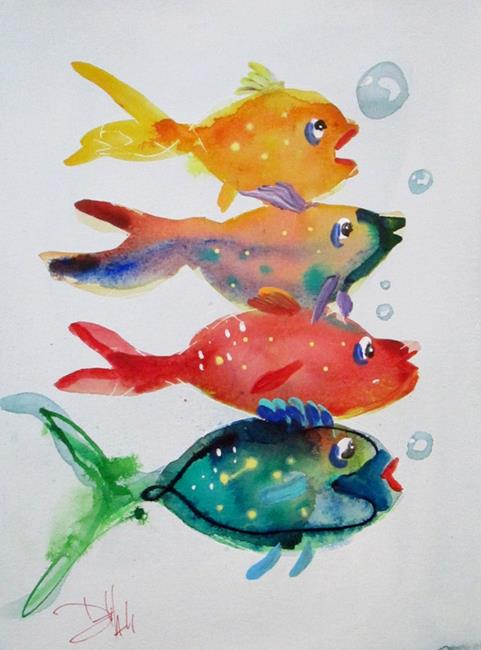 Art: Fancy Fish by Artist Delilah Smith