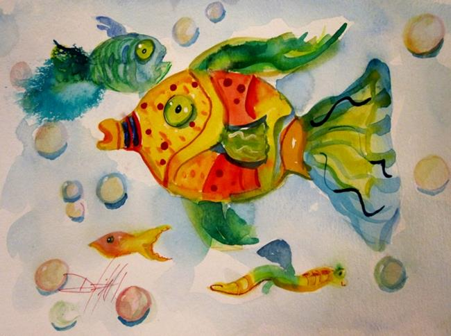 Art: Wild With Color Fish by Artist Delilah Smith