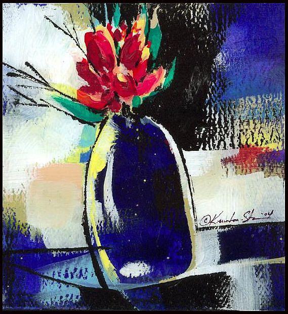 Art: Floral 4 by Artist Kathy Morton Stanion