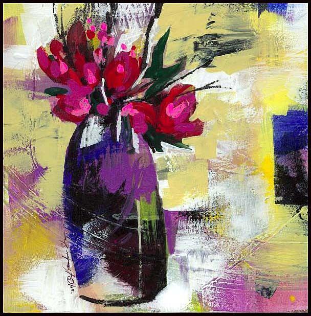 Art: Floral 7 by Artist Kathy Morton Stanion