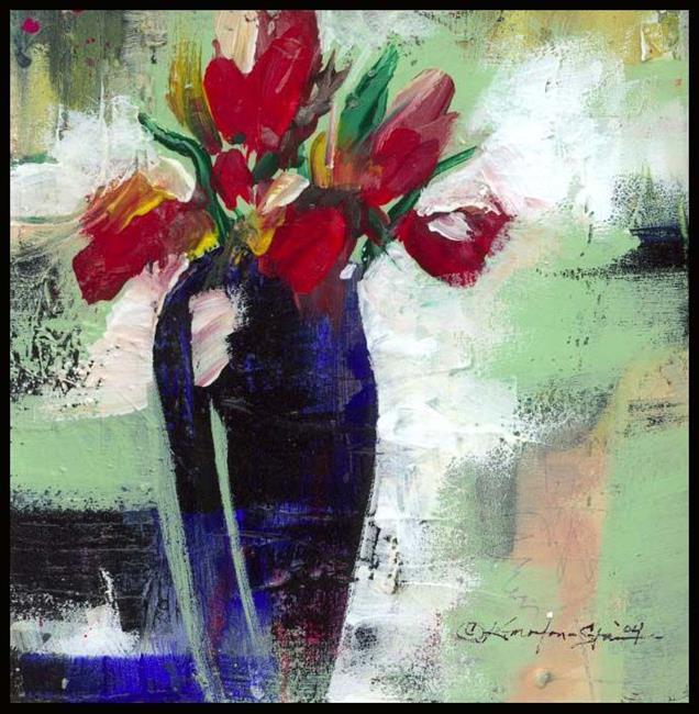 Art: Floral 9 by Artist Kathy Morton Stanion