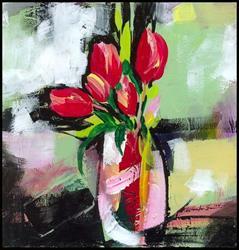 Art: Floral 11 by Artist Kathy Morton Stanion