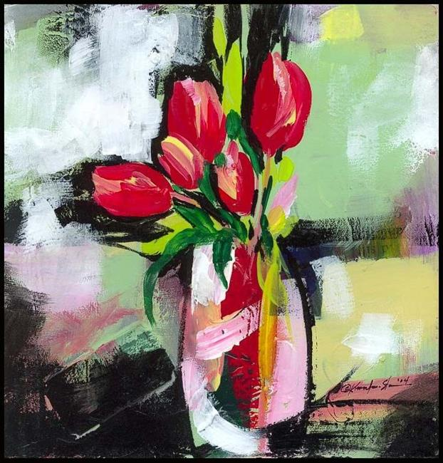 Art: Floral 11 by Artist Kathy Morton Stanion