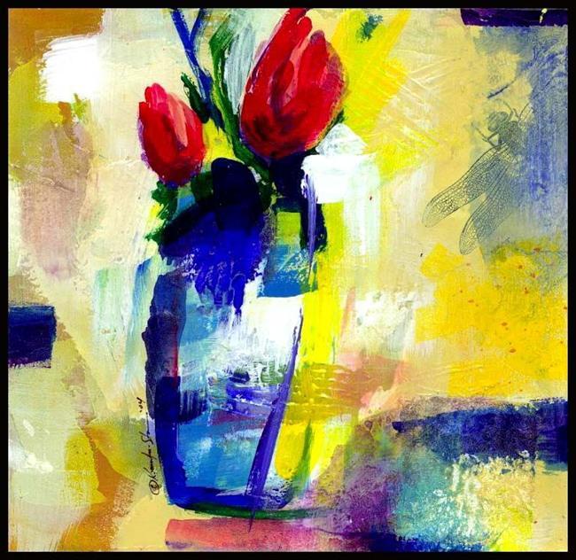 Art: Floral 13 by Artist Kathy Morton Stanion