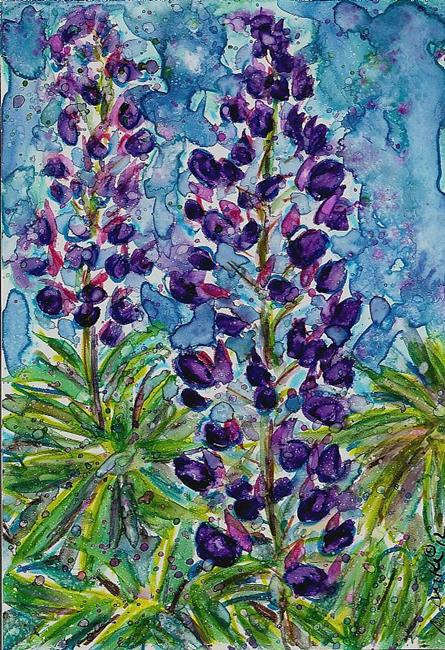 Art: Oregon Lupines 1 by Artist Melinda Dalke