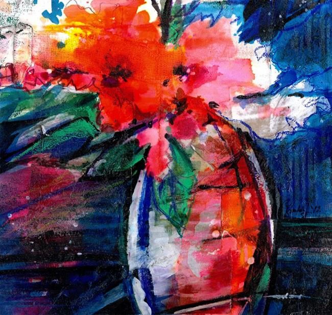 Art: Fantasy Floral No. 5 by Artist Kathy Morton Stanion