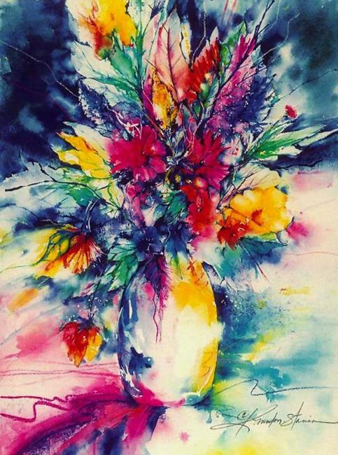 Art: Vase Of Flowers by Artist Kathy Morton Stanion