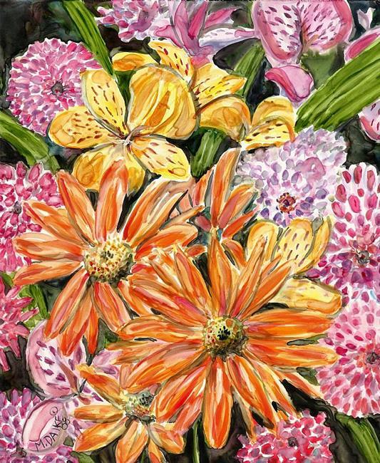 Art: Impression Spring Bouquet 1 by Artist Melinda Dalke