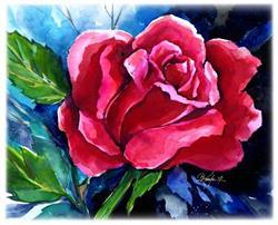 Art: Nancy's Rose by Artist Kathy Morton Stanion