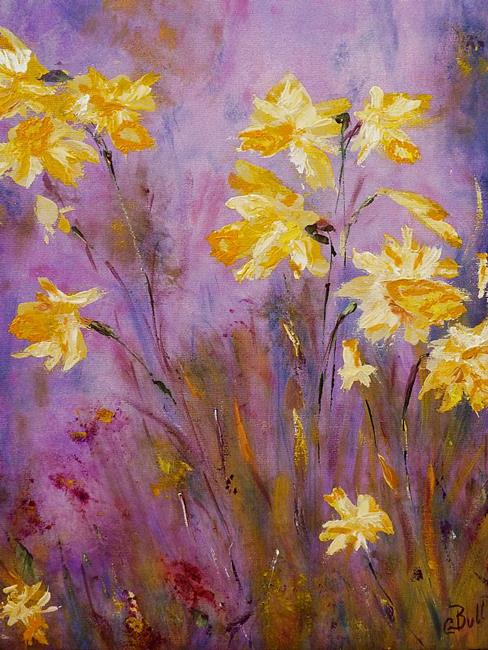 Art: Spring Daffodils by Artist Claire Bull