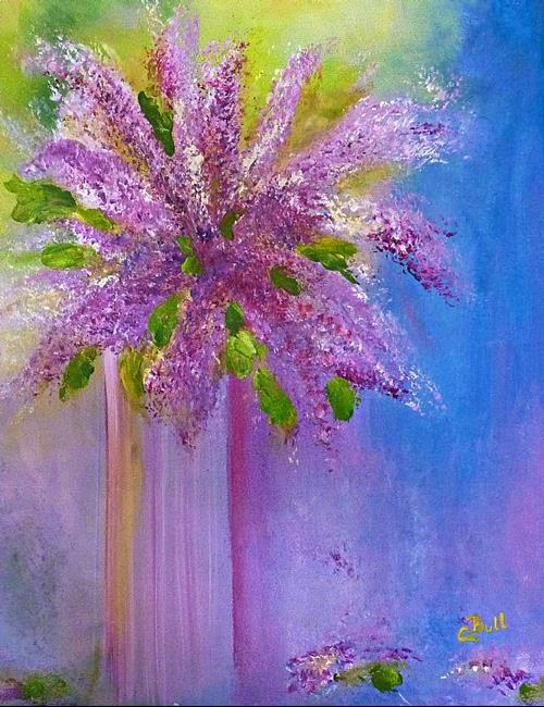 Art: Lovely Lilacs by Artist Claire Bull