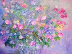 Art: Flowers For Mother by Artist Claire Bull