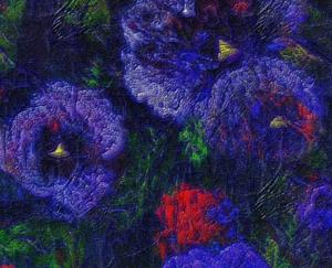 Detail Image for art Red and Purple Pansies
