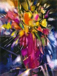 Art: Soft Blooms by Artist Kathy Morton Stanion