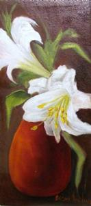 Detail Image for art Easter Lilies and Red Vase