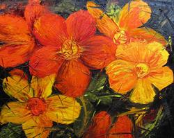 Art: Fractured Flowers by Artist Barbara Haviland