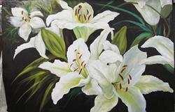 Art: White Daylilies by Artist Barbara Haviland