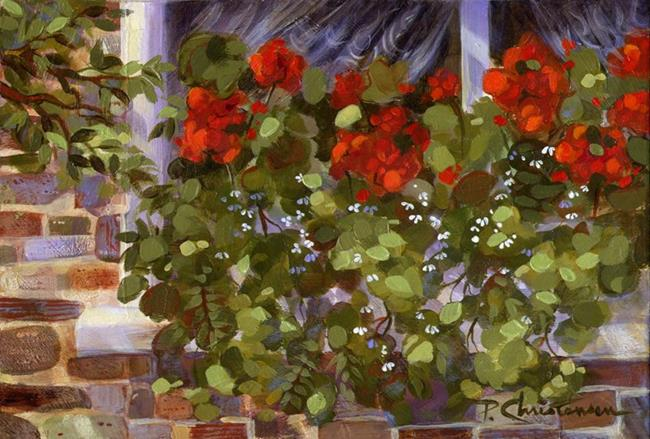 Art: Geraniums On The Edge by Artist Patricia  Lee Christensen