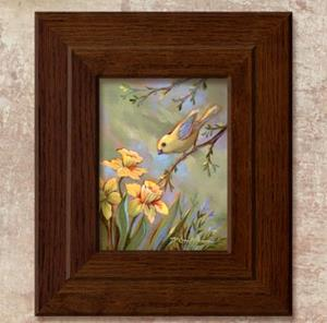 Detail Image for art Yellow Bird & Daffodils