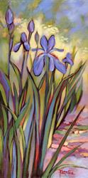 Art: Irises Homage to Vincent by Artist Patricia  Lee Christensen