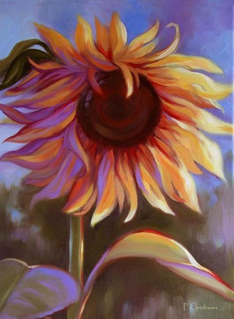 Art: Sunflower Giclee Print by Artist Patricia  Lee Christensen
