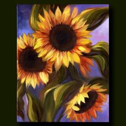 Art: Pike Place Sunflowers ~ Sold by Artist Patricia  Lee Christensen