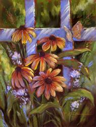 Art: Summer's End ~ Black-eyed Susans by Artist Patricia  Lee Christensen